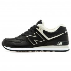 Фотография 1 Зимние New Balance 574 Black White Black With White Fur