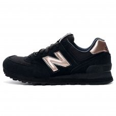 Женские New Balance 574 Black/Bronze