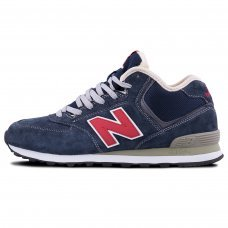 Фотография 1 Зимние New Balance 574 High Blue Red With Fur