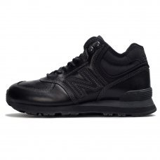 Фотография 1 Зимние New Balance 574 High All Black With Fur