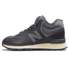 Зимние New Balance 574 High Dark Grey With Fur