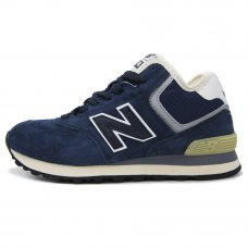 Зимние New Balance 574 High Blue With Fur
