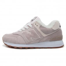 Фотография 1 Зимние New Balance 574 Gently Pink With Fur