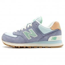 Женские New Balance 574 Light Blue/Green