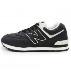 Унисекс New Balance 574 Black/White Leather