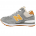 Зимние New Balance 574 High Gray/Orange With Fur