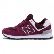 Унисекс New Balance 574 Burgundy/White