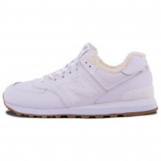 Зимние New Balance 574 All White With Fur