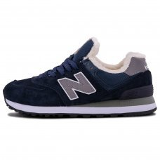 Фотография 1 Зимние New Balance 574 Blue Gray With Fur