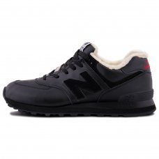 Фотография 1 Зимние New Balance 574 All Black With Fur