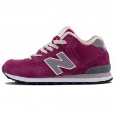 Зимние New Balance 574 High Purple With Fur