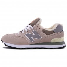 Фотография 1 Зимние New Balance 574 Gray Beige With Fur