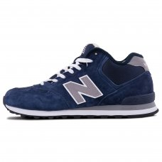 Зимние New Balance 574 High Dark Blue With Fur