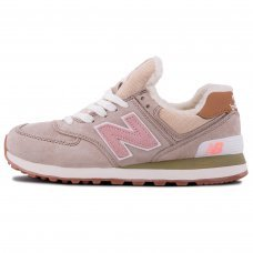 Фотография 1 Зимние New Balance 574 Beige Pink With Fur