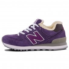 Зимние New Balance 574 Rich Purple With Fur